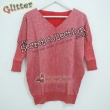 Plain Sweater With Glitter