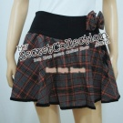 Checked Skirt Pants