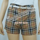 Checked Shorts (Free Belt)