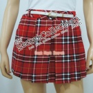 Checked Skirt Pants (Free Belt)